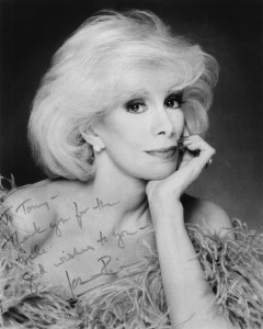 RIP Joan Rivers. She sent this signed photo to me in 1984.