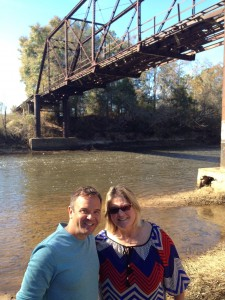 My sister, Tracy, and I along the river banks in Alabama