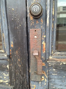 This escutcheon belongs to the door of a treasured building in my hometown. Our souls are treasures too.