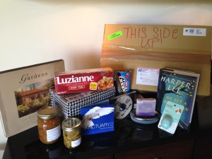 A sampling of the goodies that arrived in recent care packages!