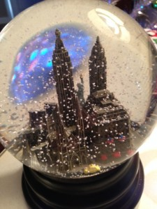 My favorite snow globe given to me by my friend Joyce Newman.