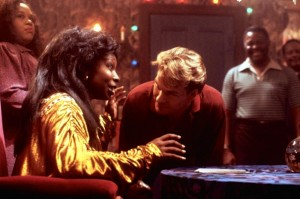 Whoopi Goldberg and Patrick Swayze in Ghost