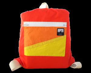 Utilizing recycled sailboat sails, Urban Barrels presents a backpack...