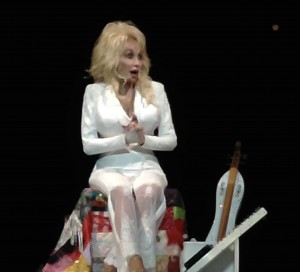 Dolly Parton shares her Imagination Library literacy project with the Santa Barbara audience.