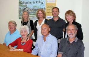 The Rona Barrett Foundation board of directors and its key project, The Golden Inn and Village.