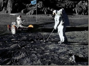 Astronaut Alan Shephard of Apollo 14 played golf on the moon in 1971.